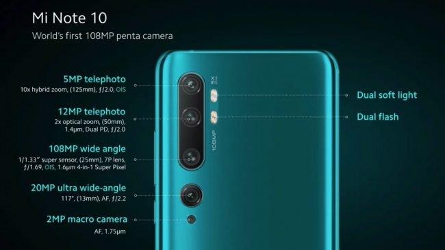 Mi Note 10 camera