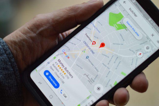 google maps v mobilu