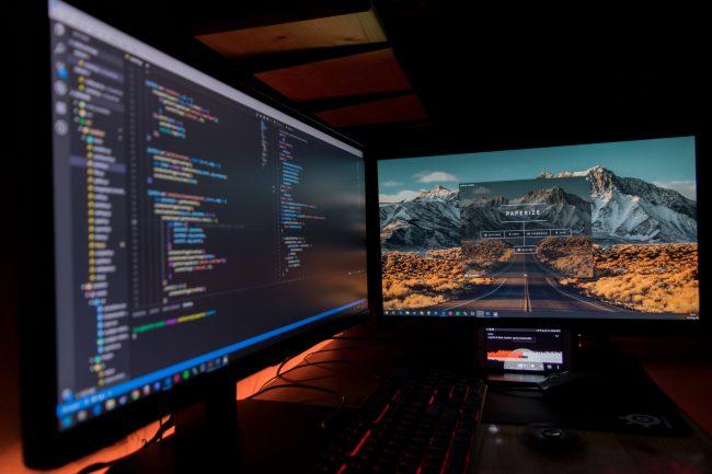 software, aplikace, monitor, kodovani, programovani