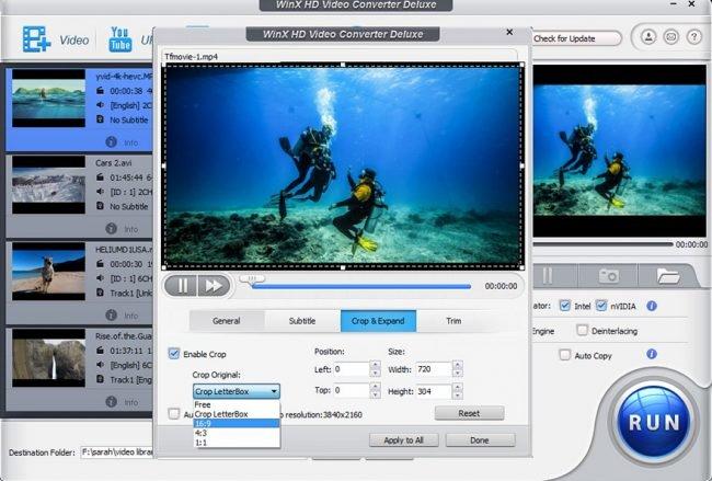 WinX HD Video Converter Deluxe 1