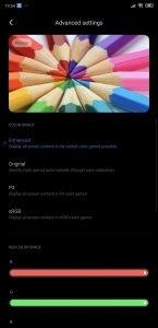 Xiaomi MIUI 11 advanced display
