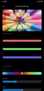 Xiaomi MIUI 11 advanced display 2