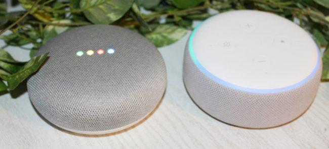 Amazon Google Echo Dot Alexa Home Mini recenze