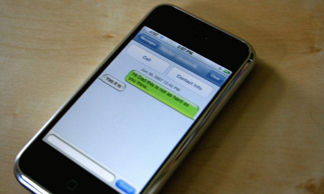 Original iPhone SMS
