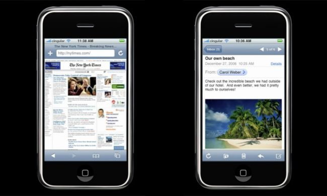 Oriignal iPhone Safari and Mail