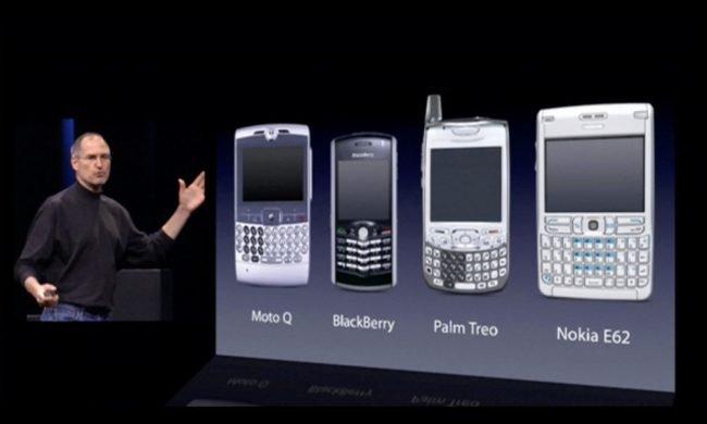 iphone 2007 unveil keyboard phones