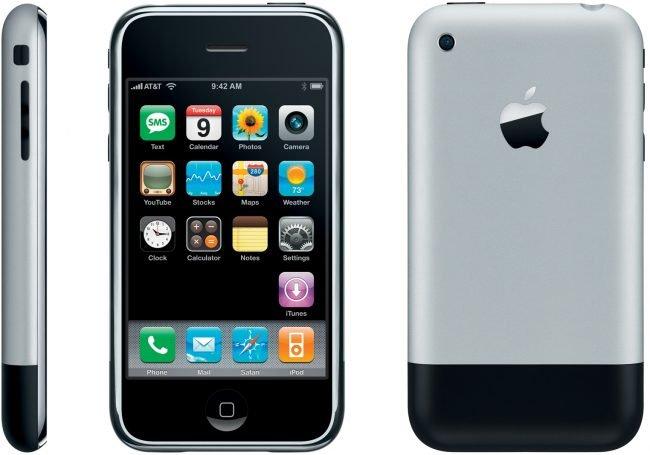 iPhone (2G) na oficiálním tiskovém snímku