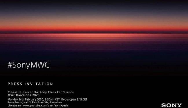 Pozvánka na tiskovou konferenci společnosti Sony v Barceloně