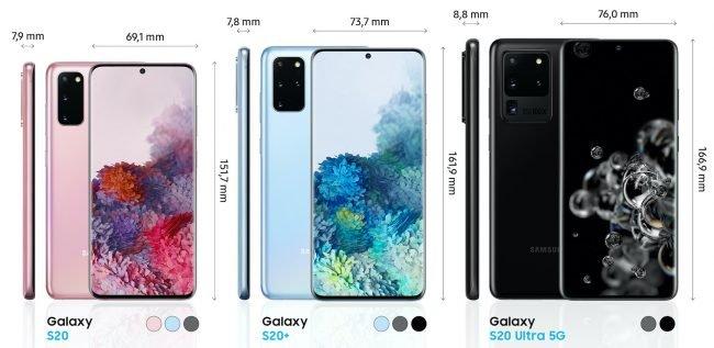 Galaxy S20 rozmery