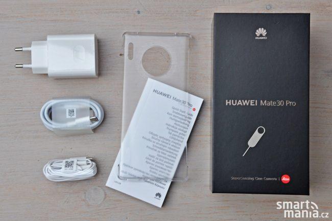 Huawei Mate 30 Pro a obsah balení