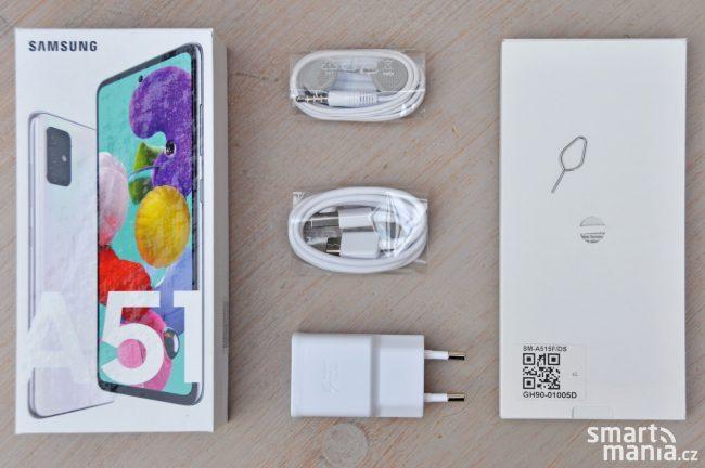 Samsung Galaxy A51 & obsah balení