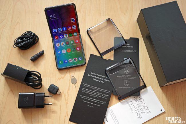 Samsung Galaxy Z Flip obsah balení