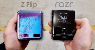 Z Flip vs RAZR drop test