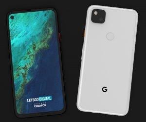 google pixel 4a smartphone render 3