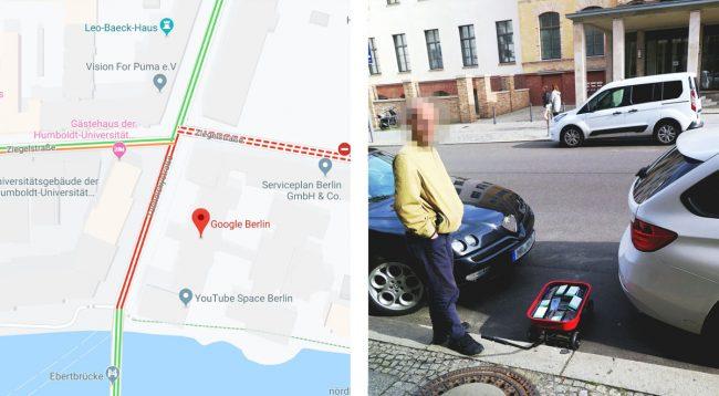 mobily vozik google navigace 2
