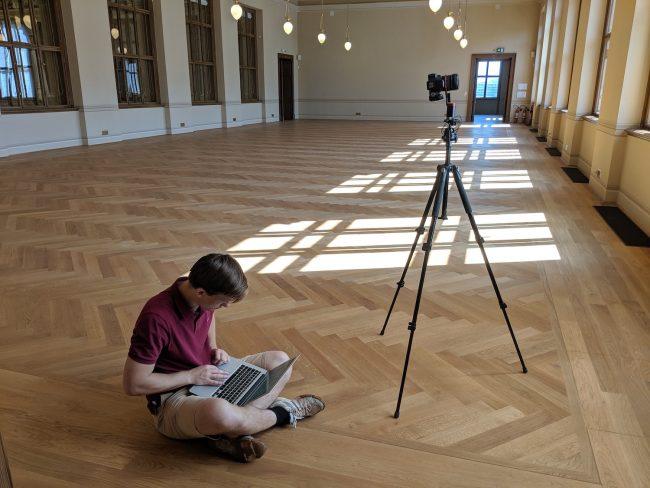 Takhle probíhalo snímání prostor Národního muzea
