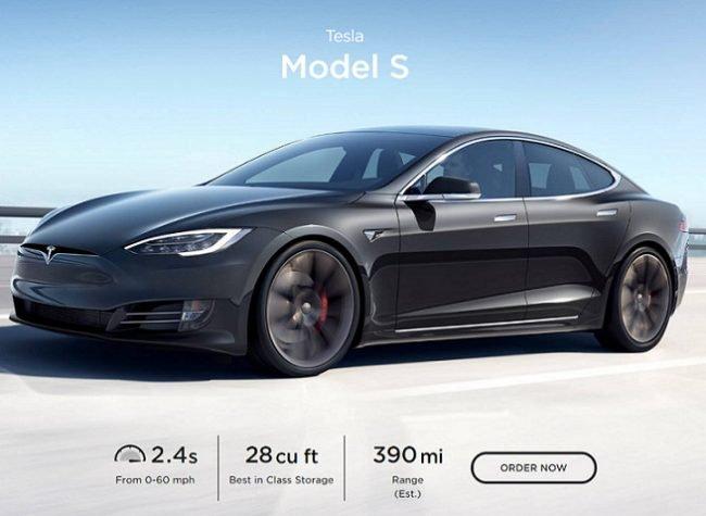 tesla model s range