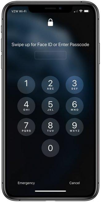 iphone facemask passcode