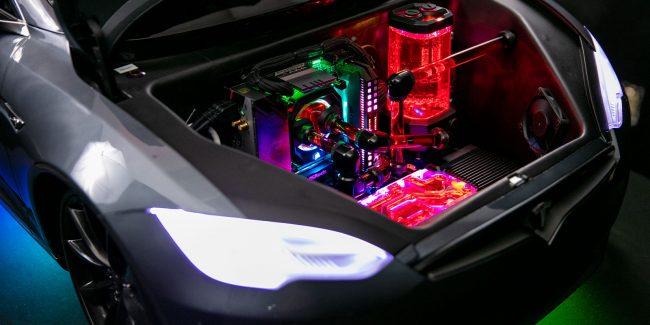 tesla front hood 2