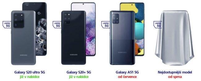 O2 5G telefony