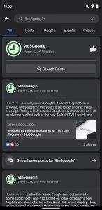 facebook android dark mode 2