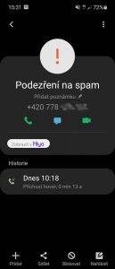 samsung blokovani hovoru 3