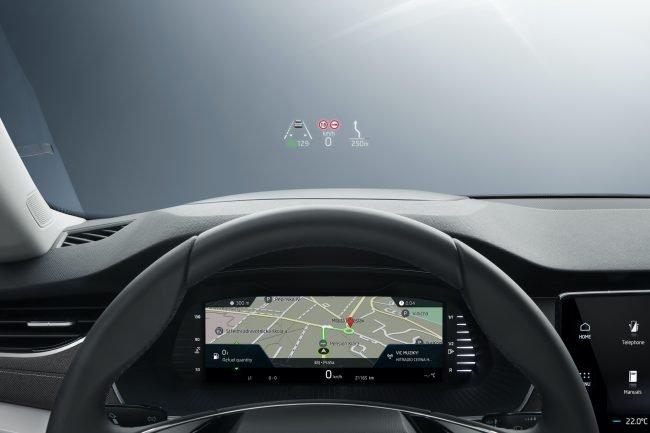Škoda Octavia head-up displej