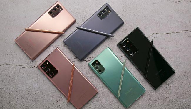 Galaxy Note 20 rada barvy