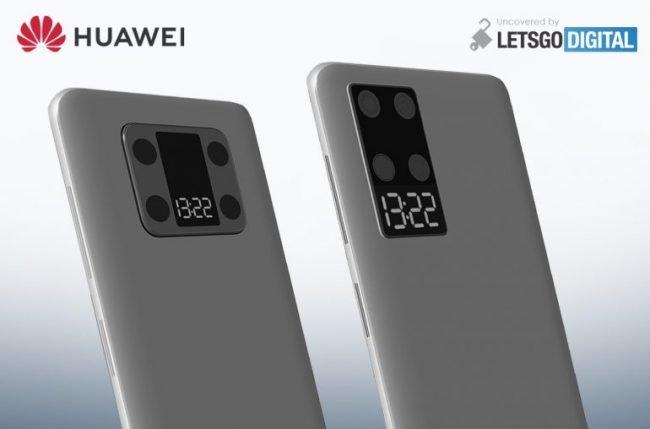Huawei patent telefon s druhym displejem 01
