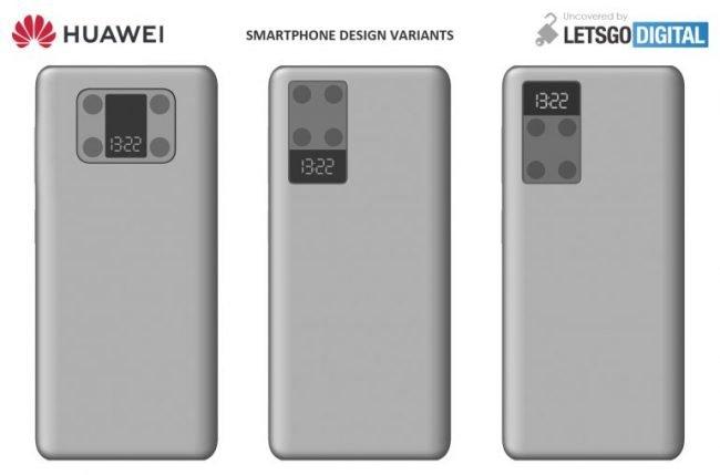 Huawei patent telefon s druhym displejem 02