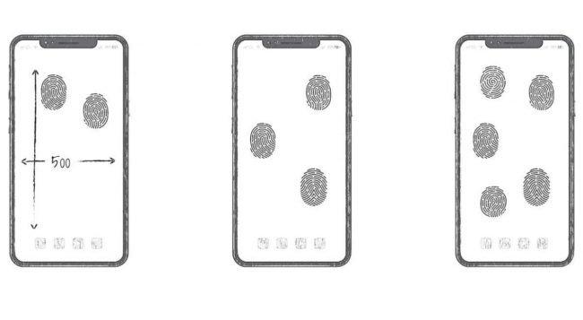 huawei all screen fingerprint patent
