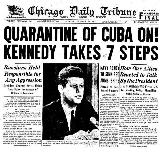 kubanska krize noviny
