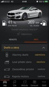 BMW 840i aplikace