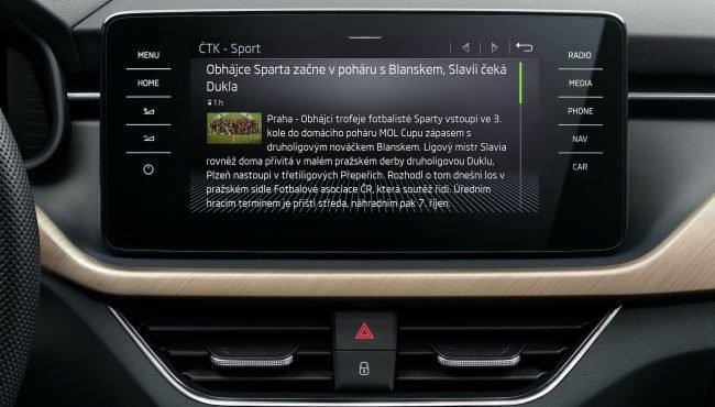 Skoda Auto infotainment