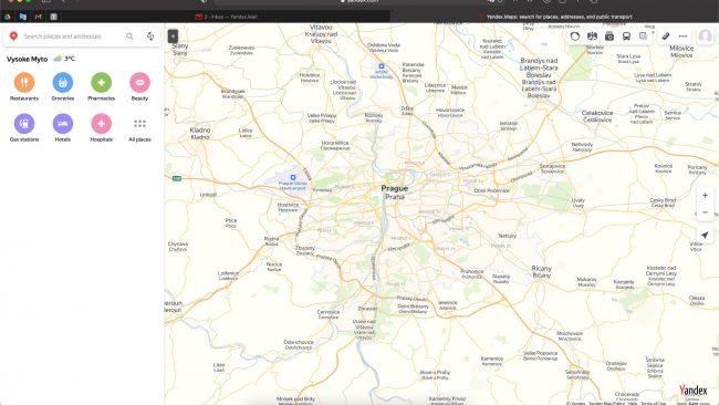 Yandex mapy