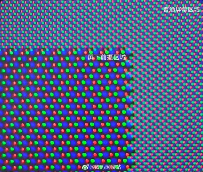 udc kamera pod displejem pixely