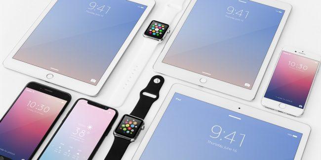 Apple Devices Mockup Bundle 01