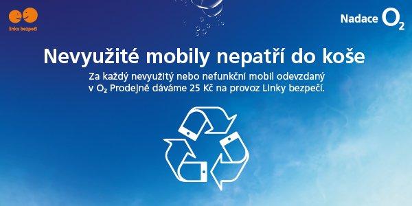 O2 Eko likvidace mobilu