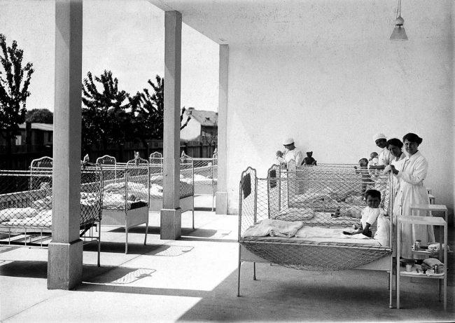 lecba deti sluncem viden 1920