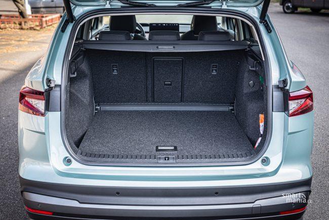 ENYAQ nabídne asi o 40 litrů větší kufr než sourozenec Volkswagen ID.4.