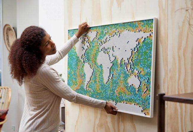 Lego Art World Map 1
