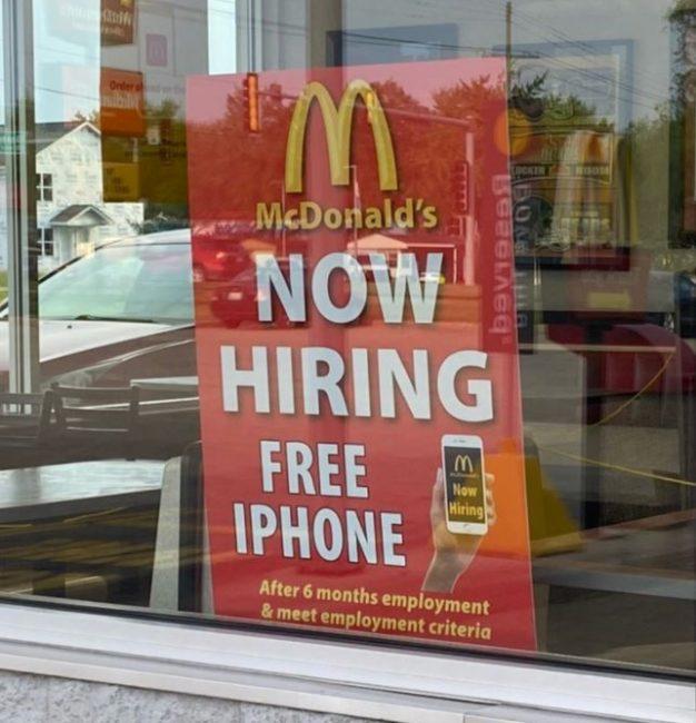 McDonalds Free iPhone