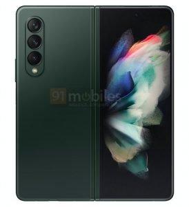 Galaxy Z Fold 3 Green 3