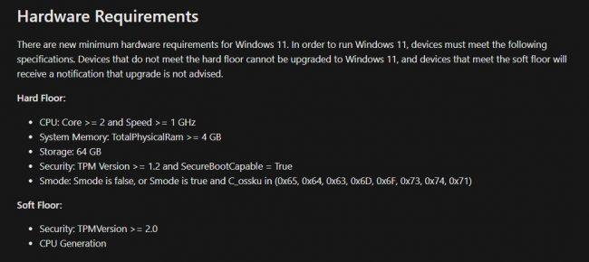Zahteve za strojno opremo Windows 11