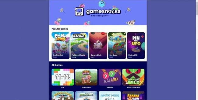 Gamesnacks HTML5 games