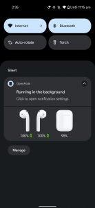 Open Pods AirPods battery notifi