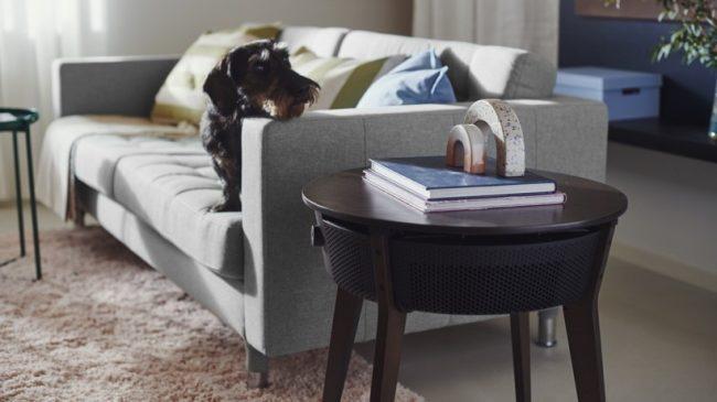 ikea air purifier table brown 16