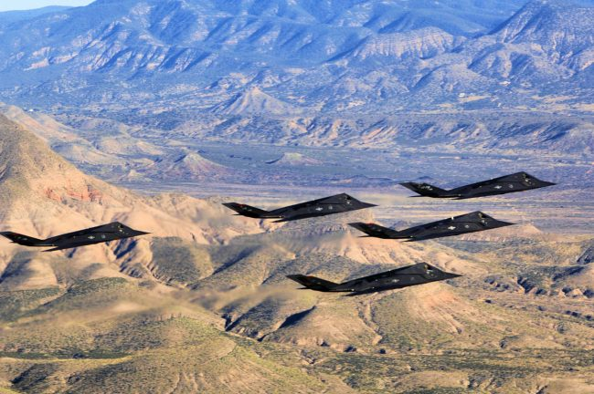 F 117 Nighthawks over New Mexico
