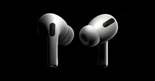 airpods pro black background
