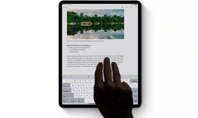 iOS Features iPad Undo with Three Fingers